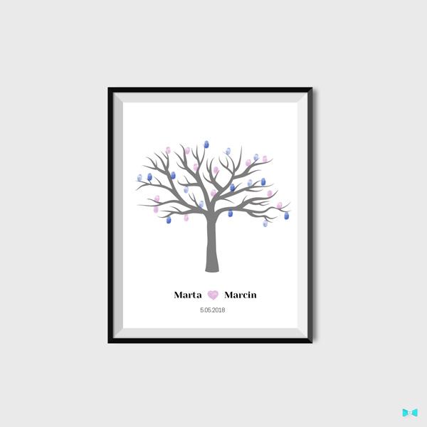 Księga gości drzewko