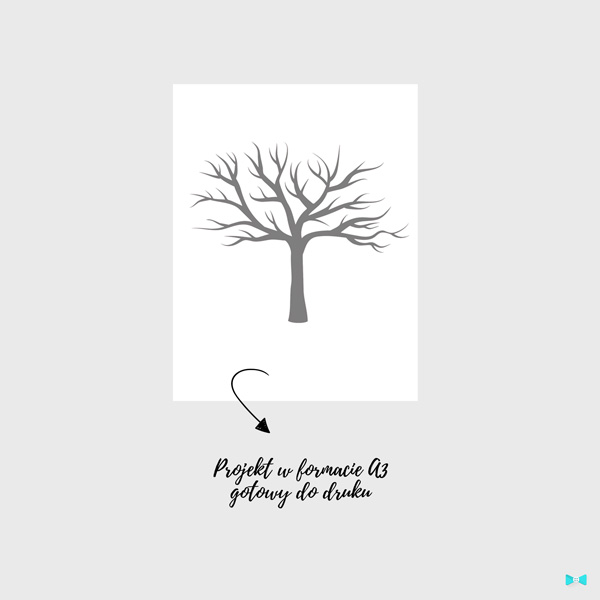 Księga gości odciski palców – drzewko