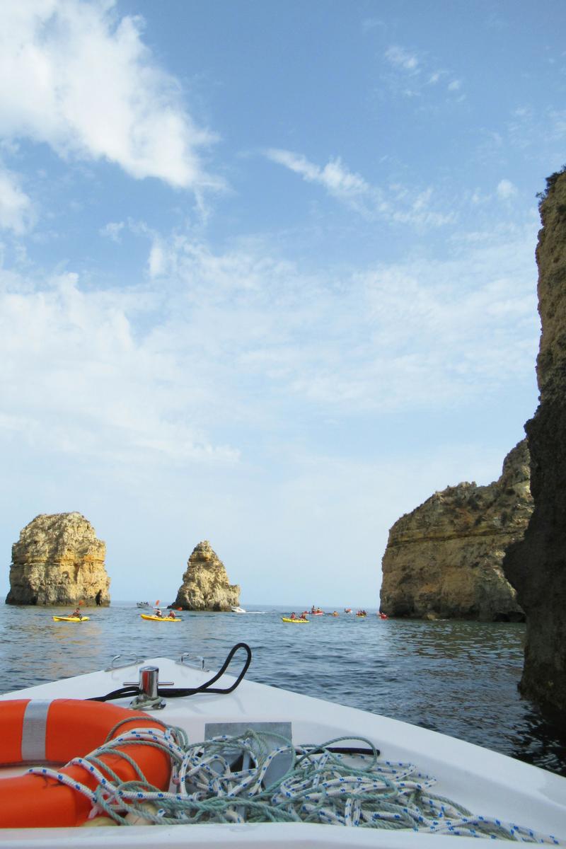 Ponta de Piedade z łódki