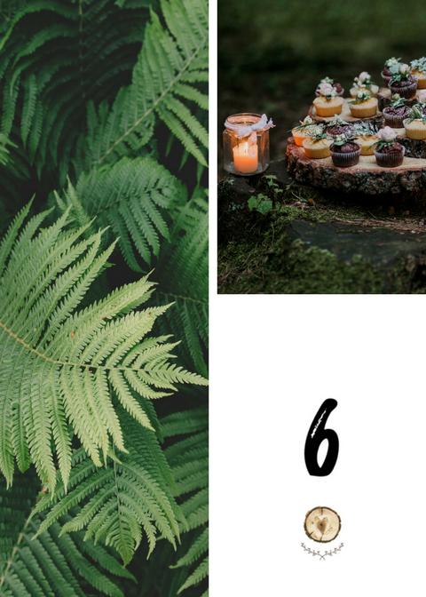 Numery stołów weselnych – krążek drewna