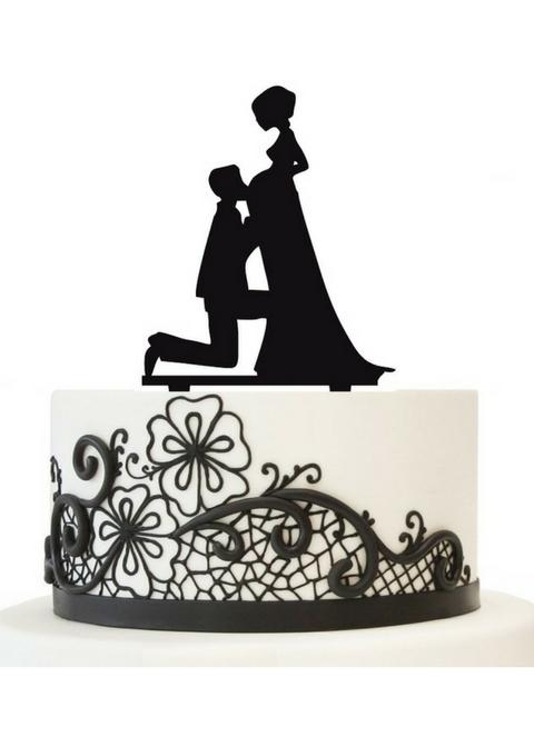 Topper na tort z panną młodą w ciąży – Allegro