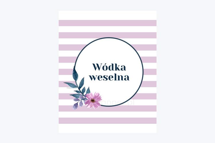 Darmowe fioletowe zawieszki na wódkę weselną