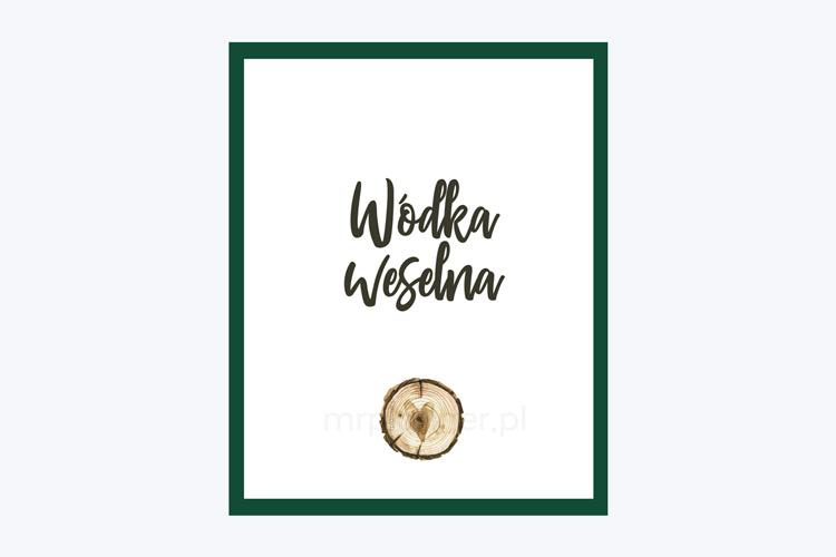 Darmowe fioletowe zawieszki na wódkę weselną z plastrem drewna, rustykalne